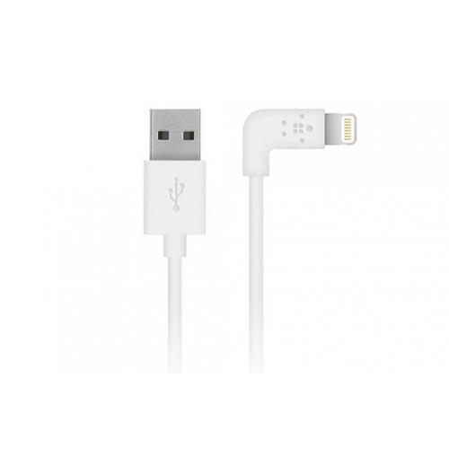 90 graden Lightning naar USB-kabel 1,2 meter - Wit