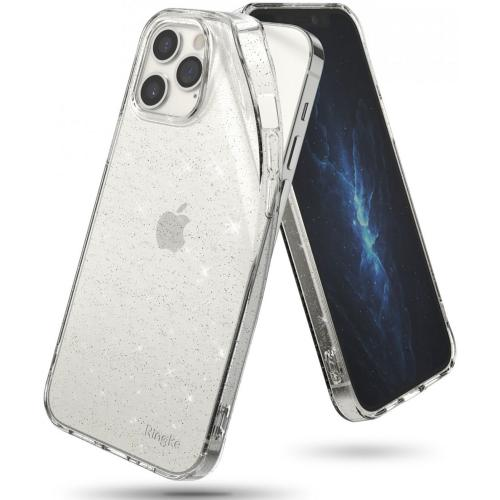 Air Backcover voor iPhone 12 Pro Max - Transparant Glitter