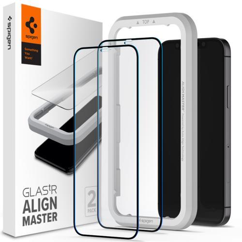 AlignMaster Full Cover Screenprotector 2 Pack voor de iPhone 12 (Pro)