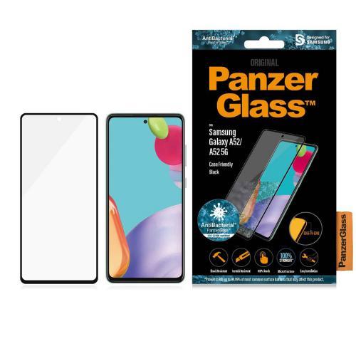 Anti-Bacterial Case Friendly Screenprotector Galaxy A52 (5G) / A52 (4G) - Zwart