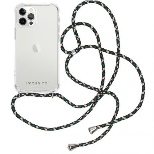 Backcover met koord voor de iPhone 12 Pro Max - Groen