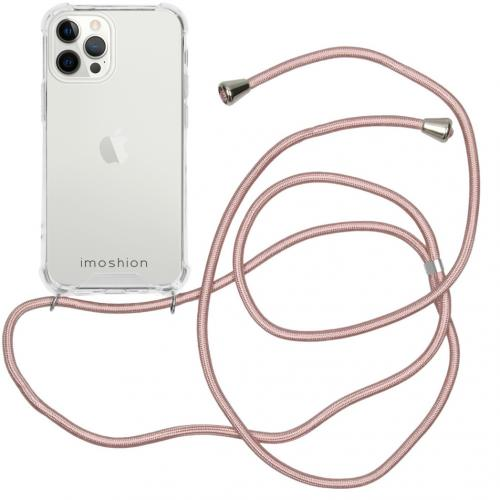 Backcover met koord voor de iPhone 12 Pro Max - Rosé Goud