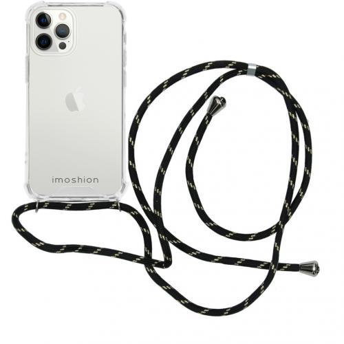 Backcover met koord voor de iPhone 12 Pro Max - Zwart / Goud