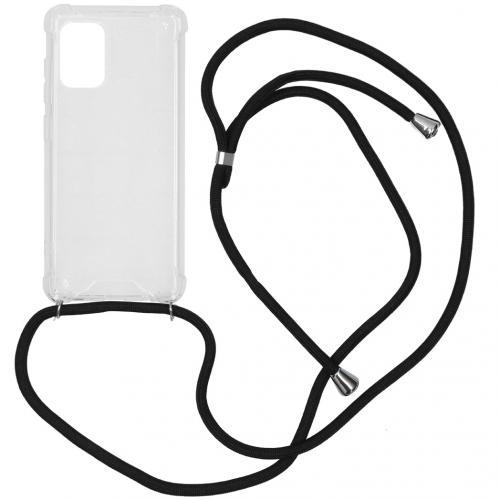 Backcover met koord voor de Samsung Galaxy A71 - Zwart