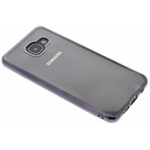 Backcover met metallic rand voor Samsung Galaxy A3 (2016) - Donkergrijs