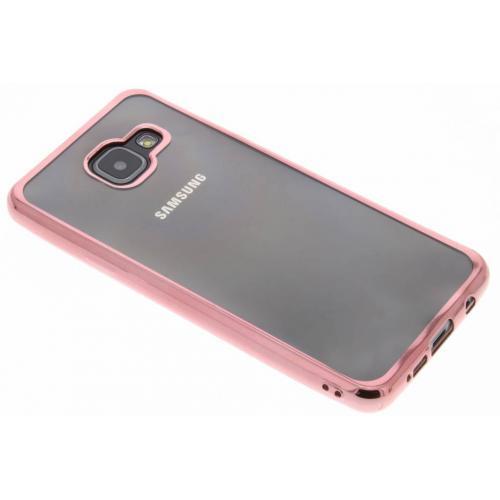 Backcover met metallic rand voor Samsung Galaxy A3 (2016) - Rosé goud