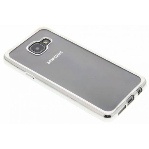 Backcover met metallic rand voor Samsung Galaxy A3 (2016) - Zilver