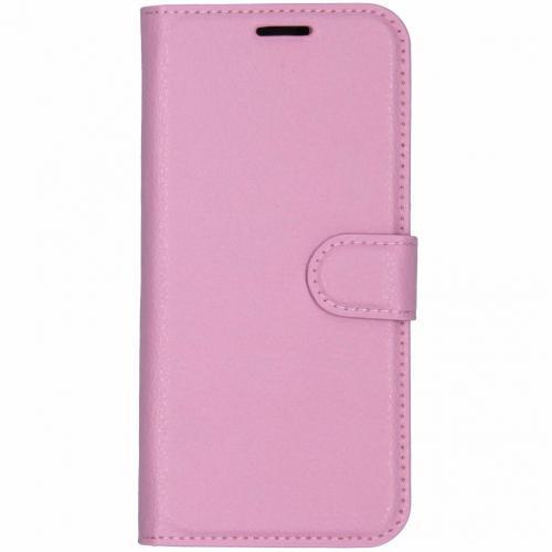 Basic Litchi Booktype voor Nokia 7.1 - Roze