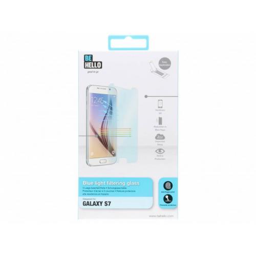 Blue light filtering glass screenprotector voor de Samsung Galaxy S7