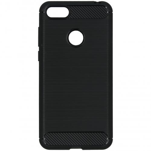 Brushed Backcover voor de Motorola Moto E6 Play - Zwart