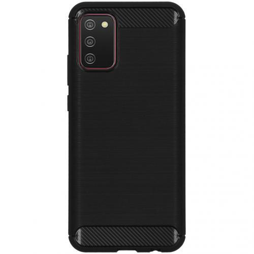 Brushed Backcover voor de Samsung Galaxy A02s - Zwart