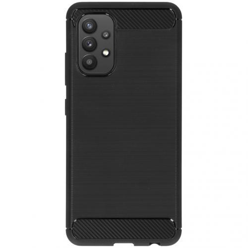 Brushed Backcover voor de Samsung Galaxy A32 (4G) - Zwart
