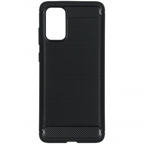 Brushed Backcover voor de Samsung Galaxy S20 Plus - Zwart
