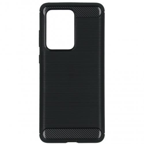 Brushed Backcover voor de Samsung Galaxy S20 Ultra - Zwart