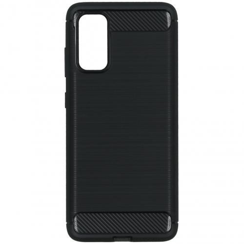 Brushed Backcover voor de Samsung Galaxy S20 - Zwart