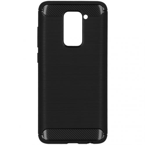 Brushed Backcover voor de Xiaomi Redmi Note 9 - Zwart