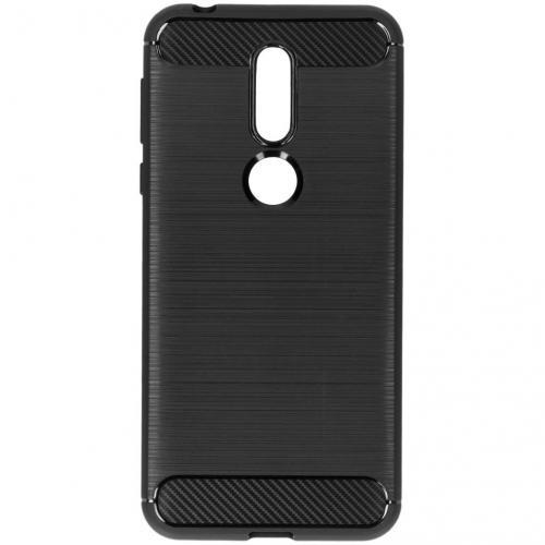 Brushed Backcover voor Nokia 7.1 - Zwart