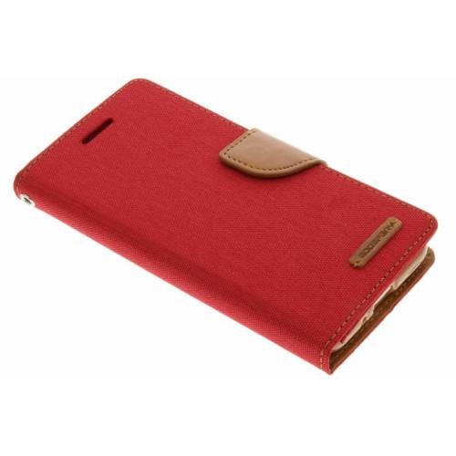 Canvas Diary Booktype voor Samsung Galaxy J3 / J3 (2016) - Rood