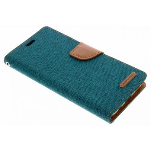 Canvas Diary Booktype voor Samsung Galaxy S9 Plus - Groen