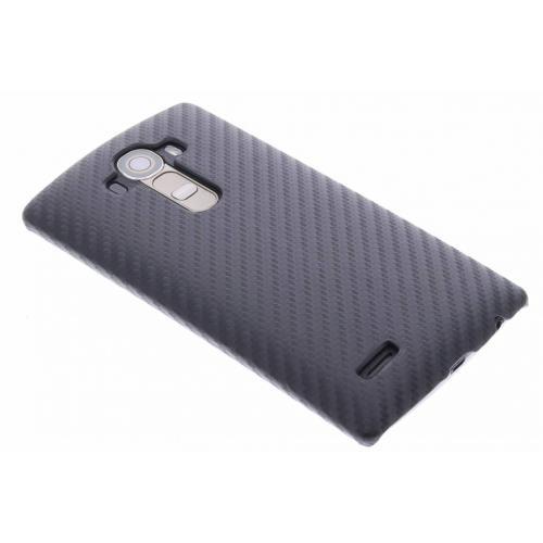 Carbon Hardcase Backcover voor LG G4 - Zwart