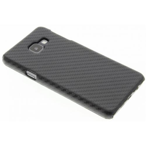 Carbon Hardcase Backcover voor Samsung Galaxy A3 (2016) - Zwart
