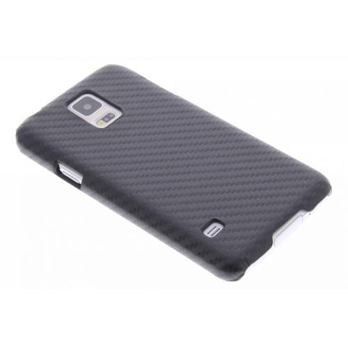 Carbon Hardcase Backcover voor Samsung Galaxy S5 (Plus) / Neo - Zwart