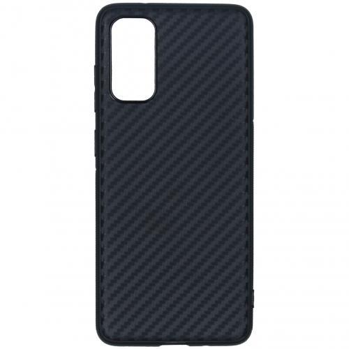 Carbon Softcase Backcover voor de Samsung Galaxy S20 - Zwart