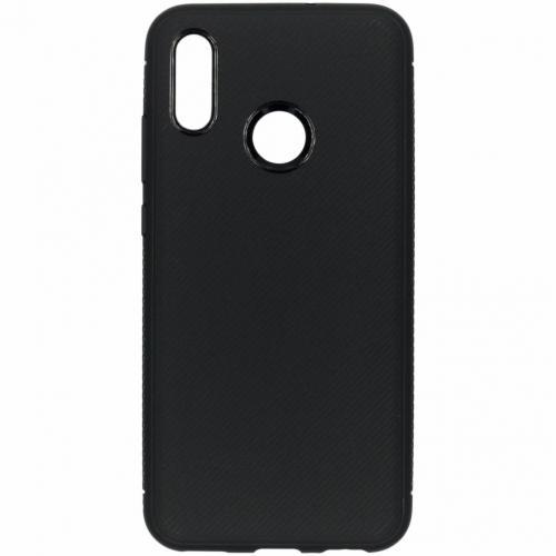 Carbon Softcase Backcover voor Honor 10 Lite - Zwart