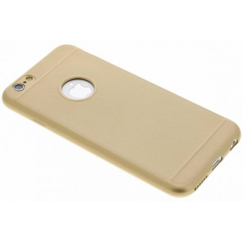 Carbon Softcase Backcover voor iPhone 6 / 6s - Goud