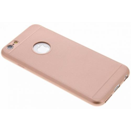 Carbon Softcase Backcover voor iPhone 6 / 6s - Rosé goud