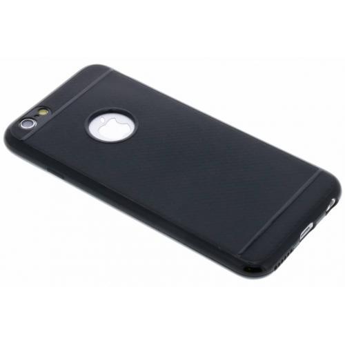 Carbon Softcase Backcover voor iPhone 6 / 6s - Zwart