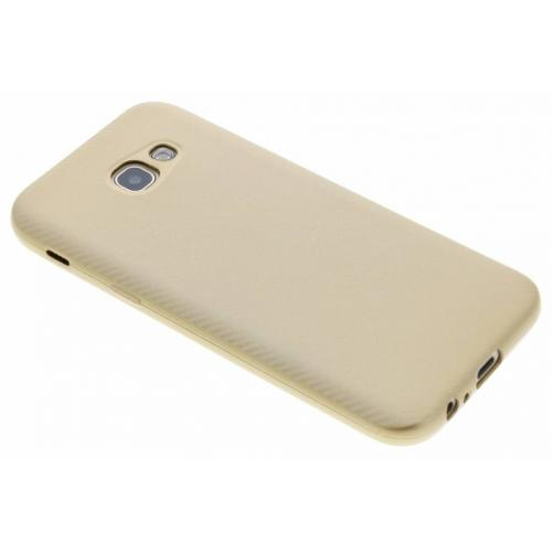 Carbon Softcase Backcover voor Samsung Galaxy A5 (2017) - Goud