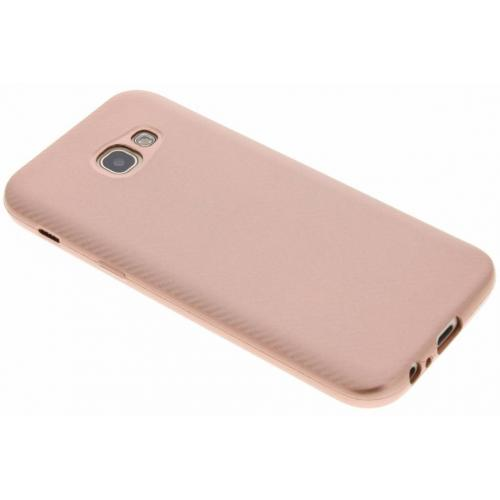 Carbon Softcase Backcover voor Samsung Galaxy A5 (2017) - Rosé goud