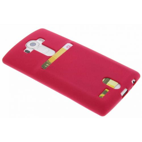 Card Backcover voor LG G4 - Roze