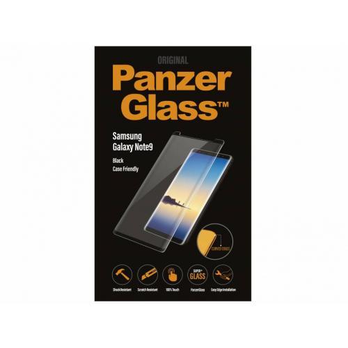 Case Friendly Glass Screenprotector voor Samsung Galaxy Note 9 - Zwart