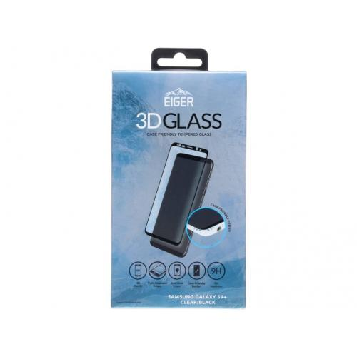 Case Friendly Glass Screenprotector voor Samsung Galaxy S9 Plus - Zwart