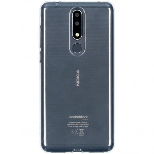 Clear Backcover voor de Nokia 3.1 Plus - Transparant
