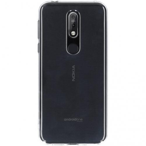 Clear Backcover voor Nokia 7.1 - Transparant