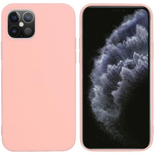 Color Backcover voor de iPhone 12 6.1 inch - Roze