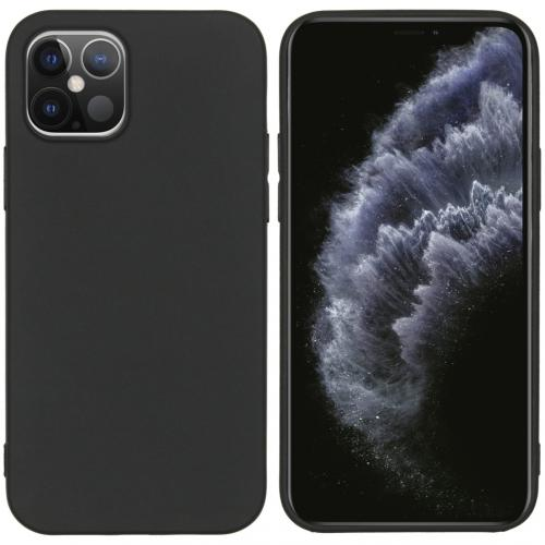 Color Backcover voor de iPhone 12 6.1 inch - Zwart