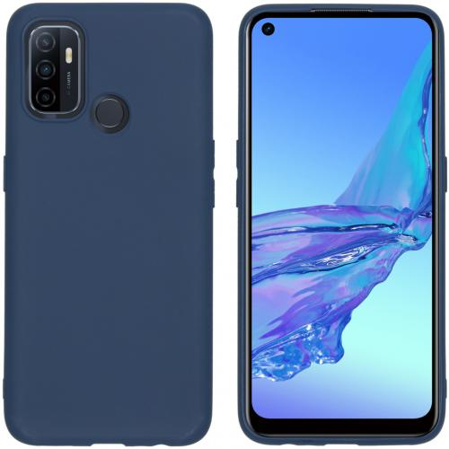 Color Backcover voor de Oppo A53 / Oppo A53s - Donkerblauw