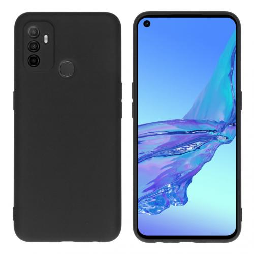 Color Backcover voor de Oppo A53 / Oppo A53s - Zwart