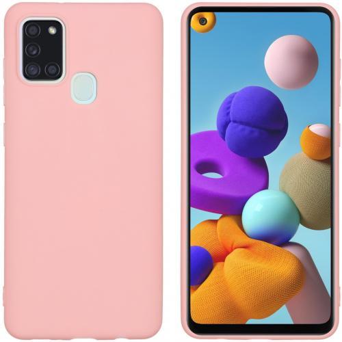 Color Backcover voor de Samsung Galaxy A21s - Roze