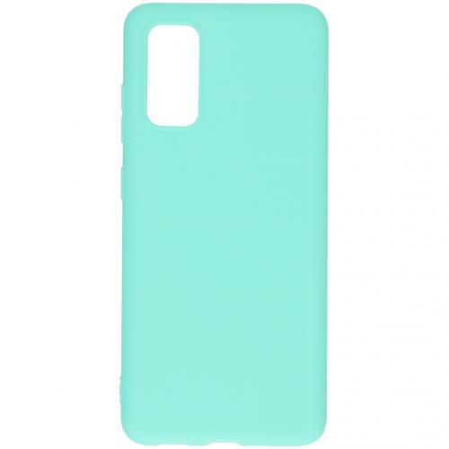 Color Backcover voor de Samsung Galaxy S20 - Mintgroen