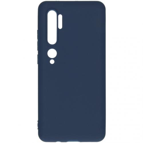 Color Backcover voor de Xiaomi Mi Note 10 - Donkerblauw