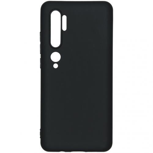 Color Backcover voor de Xiaomi Mi Note 10 Pro - Zwart