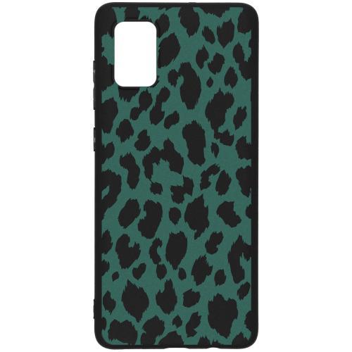 Design Backcover Color voor de Samsung Galaxy A71 - Panter Groen