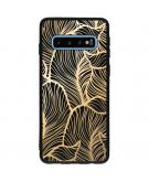 Design Backcover Color voor de Samsung Galaxy S10 - Golden Leaves