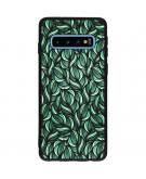 Design Backcover Color voor de Samsung Galaxy S10 - Green Botanic