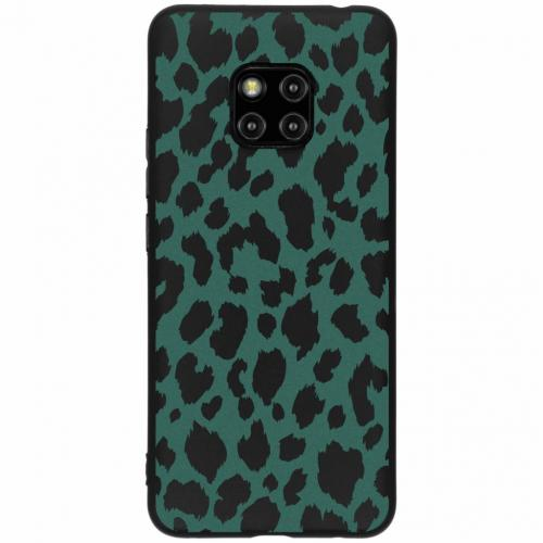 Design Backcover Color voor Huawei Mate 20 Pro - Panter Groen